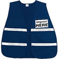 Incident Command Safety Vests - Blue With Silver Stripes
