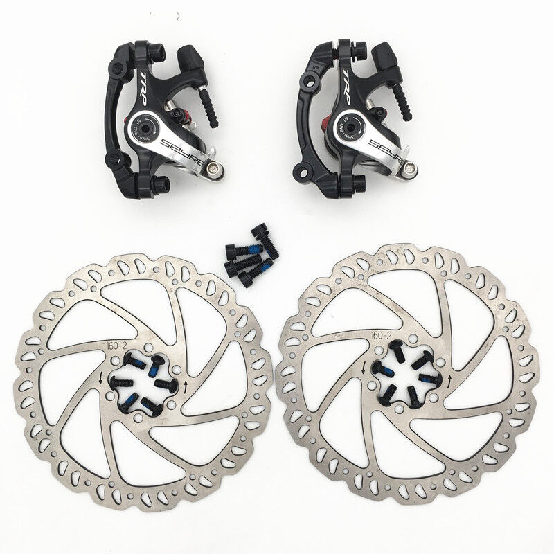 TRP SPYRE Alloy Mechanical Disc Brake Caliper w  160mm redor Front and Rear Set