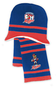 Licensed NRL Sydney Roosters Kids Beanie and Scarf Gift Set Christmas Birthday