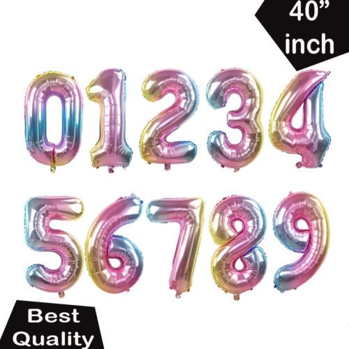 Letter Balloons Number Foil Rose Gold Blue Self Inflating Gold Pink 40 Inch Name