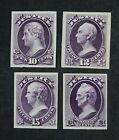 CKStamps: US Stamps Collection Scott#O29P3-O32P3 Unused H NG Proof 3 Spot Thin