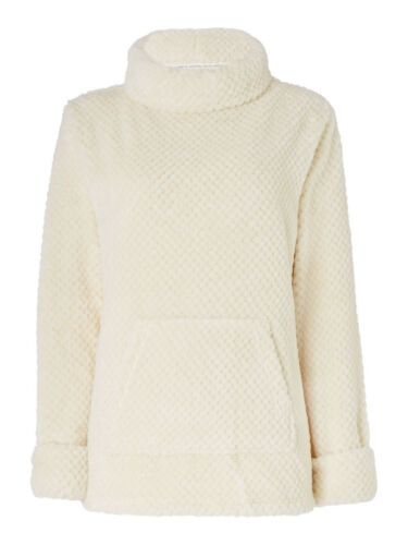 Dickins and da donna avorio Jones Collo Sciallato Waffle Top//Maglione Taglia 10 12 RRP £ 35