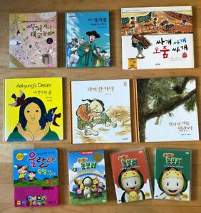 Lot 7 Korean children books + 3 DVD - kids story tales fun ...Korean Toddler Books