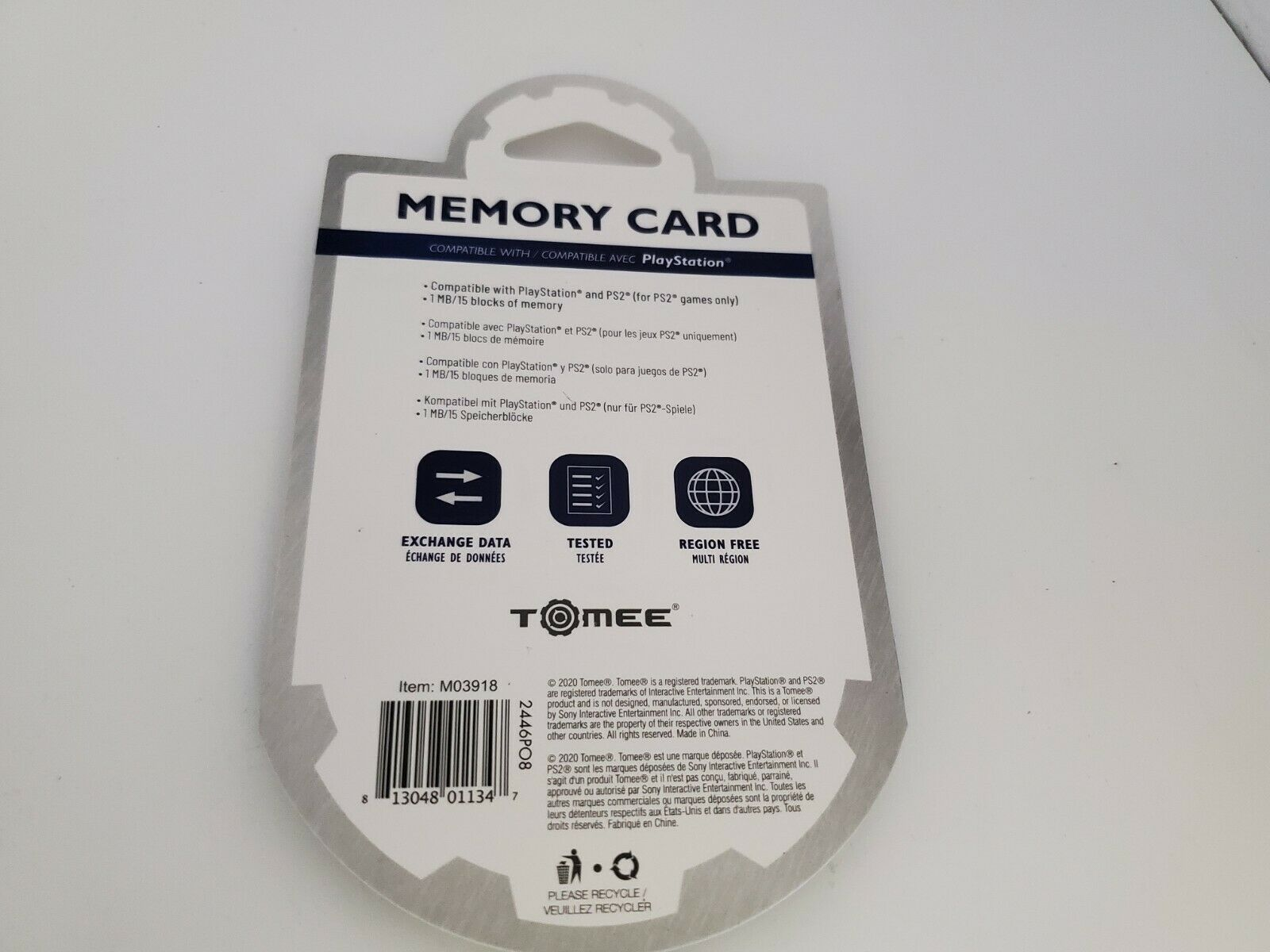 NEW Tomee Memory card for the Sony Playstation 1 System Console 1 meg 15 Block