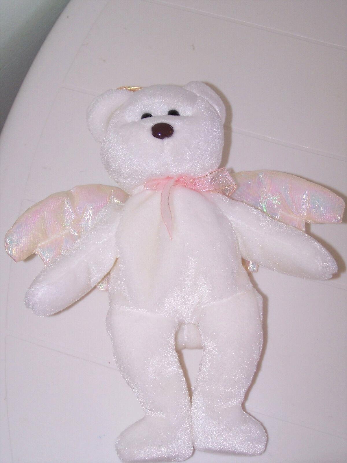 Ty Beanie Babies Baby Halo Angel Angel Angel Bear 1998