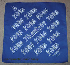 "1990 TMNT Teenage Mutant Ninja Turtles Fan Club Bandanna 22"" x 22"" ( Blue )"
