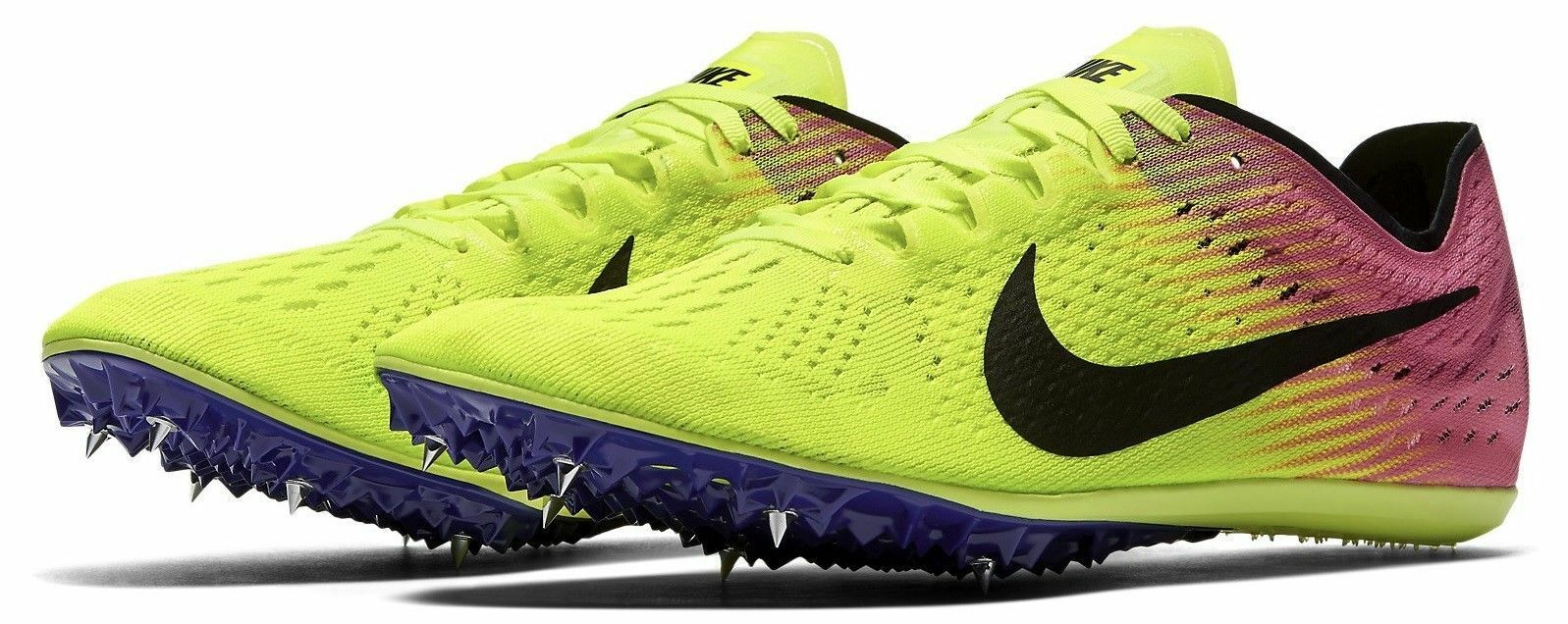NEW - Nike Zoom Victory 3 Track & Field Spikes Volt Pink Price reduction Comfortable Great discount