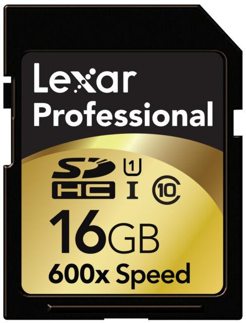 Lexar 600X 16GB SD SDHC Class10 UHS-I Memory Card For 3D 4K Camera DSLR 90MB/s O