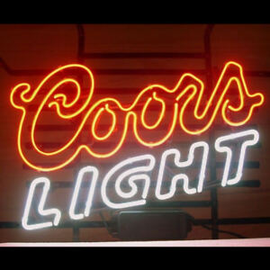 Neon signs gift coors light logo beer bar pub party store room wall image is loading neon signs gift coors light logo beer bar aloadofball Choice Image