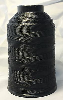 Braided Poly Thread Black Size 207 Bonded 1//4lb for leather upholstery and more