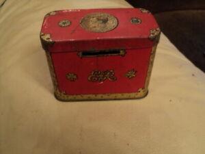 VINTAGE 1930's EDWARD V111 OXO NOVELTY MONEY BOX CORONATION SOUVENIR TIN