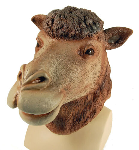 Camel Overhead Rubber Mask Fancy Dress Costume Outfit Prop Camels Head