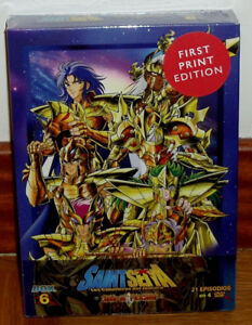 SAINT SEIYA LOS CABALLEROS DEL ZODIACO 4 DVD SAGA DE POSEIDON BOX 6 PRECINTADO