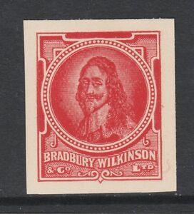Great Britain 2971 - Bradbury Wilkinson IMPERF ESSAY of Charles I in red