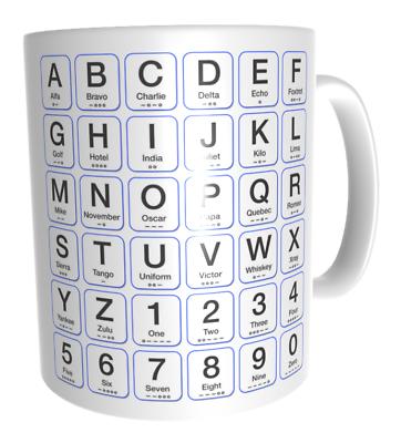 Ham Amateur Radio Learn Morse Code Phonetic Alphabet Cw Perfect Cuppa Ebay