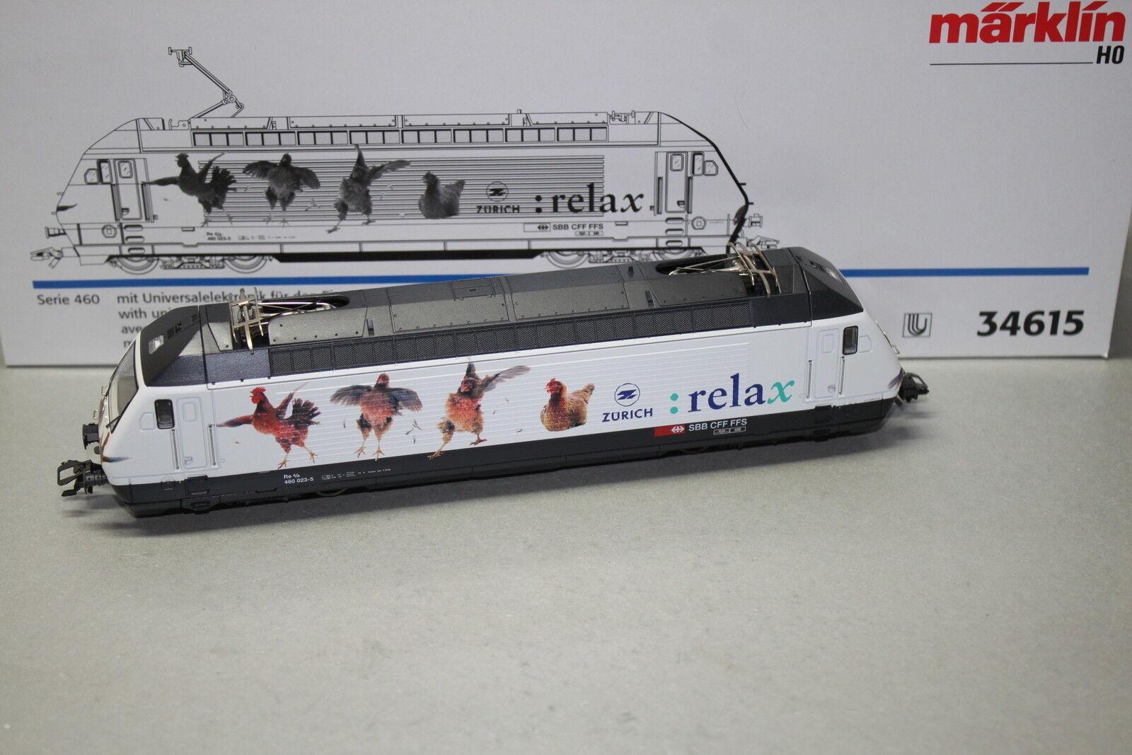 34615 elok serie 460 023-5 SBB  Zurigo RELAX  traccia h0 OVP