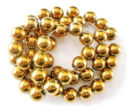 UKcheapest Silver gold Hematite round faceted 4 6 8 10 12mm gemstone beads