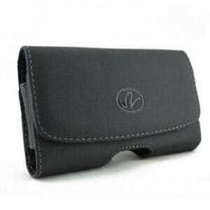 BLACK-HORIZONTAL-LEATHER-FIT-CASE-COVER-POUCH-BELT-HOLSTER-S0I-for-SMARTPHONES