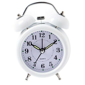 3inch-Travel-Non-ticking-Bedside-Alarm-Clock-Battery-Twin-Bell-Loud-Chime-Clock