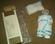 "Vintage 10"" Porcelain CHRISTENING DRESSED Baby DOLL Poole's Collector's Society"