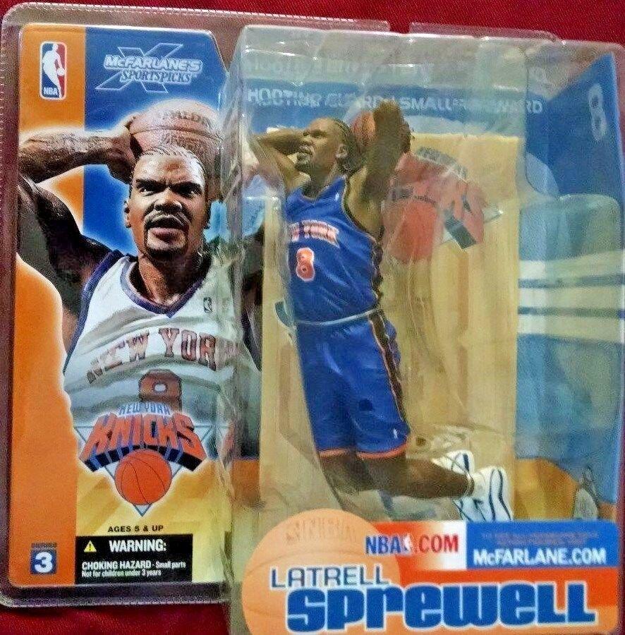 2002-03 McFarlane Basketball Series 1-4 Latrell Sprewell bluee Variant