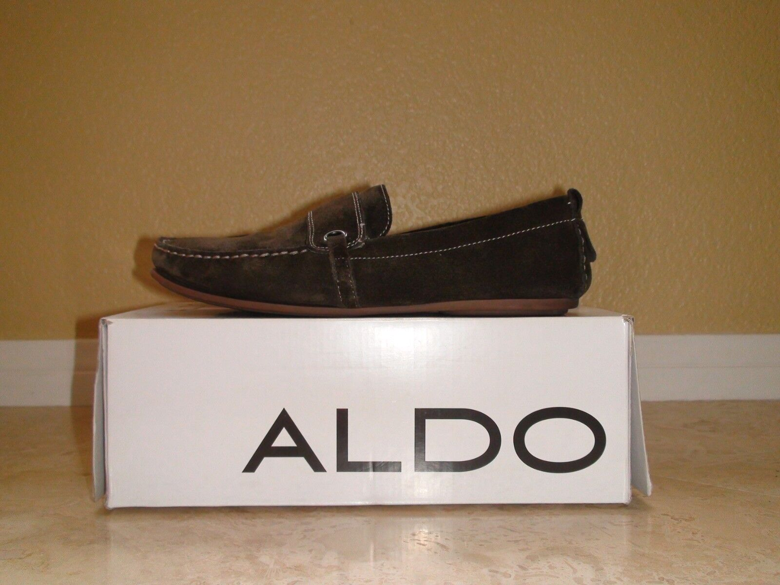 Men's Aldo Taverners 2 Olive Suede Casual Loafers Size 42 Eur 9.5 US Classic