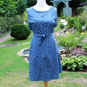 f01d722984 Stylish Flattering DP Denim Blue Dress Sleeveless Tie Around Belt UK ...