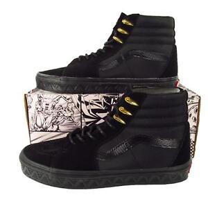 3ed77a0ea8 Vans x Marvel Black Panther Sk8-Hi Hi Top Sneakers Black Gold ...