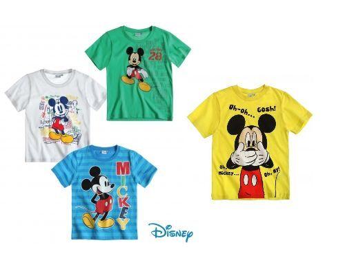 Disney Mickey Micky Maus Jungen T-Shirt Gr 98 104 110 116 128 gelb grün weiß