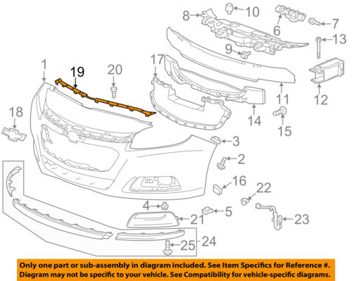 Chevrolet GM OEM Malibu Front Bumper Grille Grill-Molding Strip Right 22761933