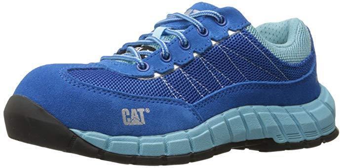 NEW CAT CATERPILLAR WOMEN'S EXACT EXACT EXACT STEEL TOE WORK SHOE Blau/Blau 7MED - FREE SHIP e33961