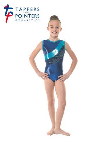 Tappers and Pointers Sleeveless Gymnastics Leotard Amazon Blue Shine Gym 33