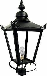 60cm schwarz Victorian Victorian Victorian Traditional Medium Lamp Post Top Lantern f21dde