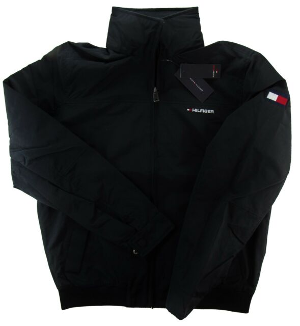Men S Tommy Hilfiger Yacht Jacket Outerwear Hoodie Waterstop Black All Size 2xl For Sale Online Ebay