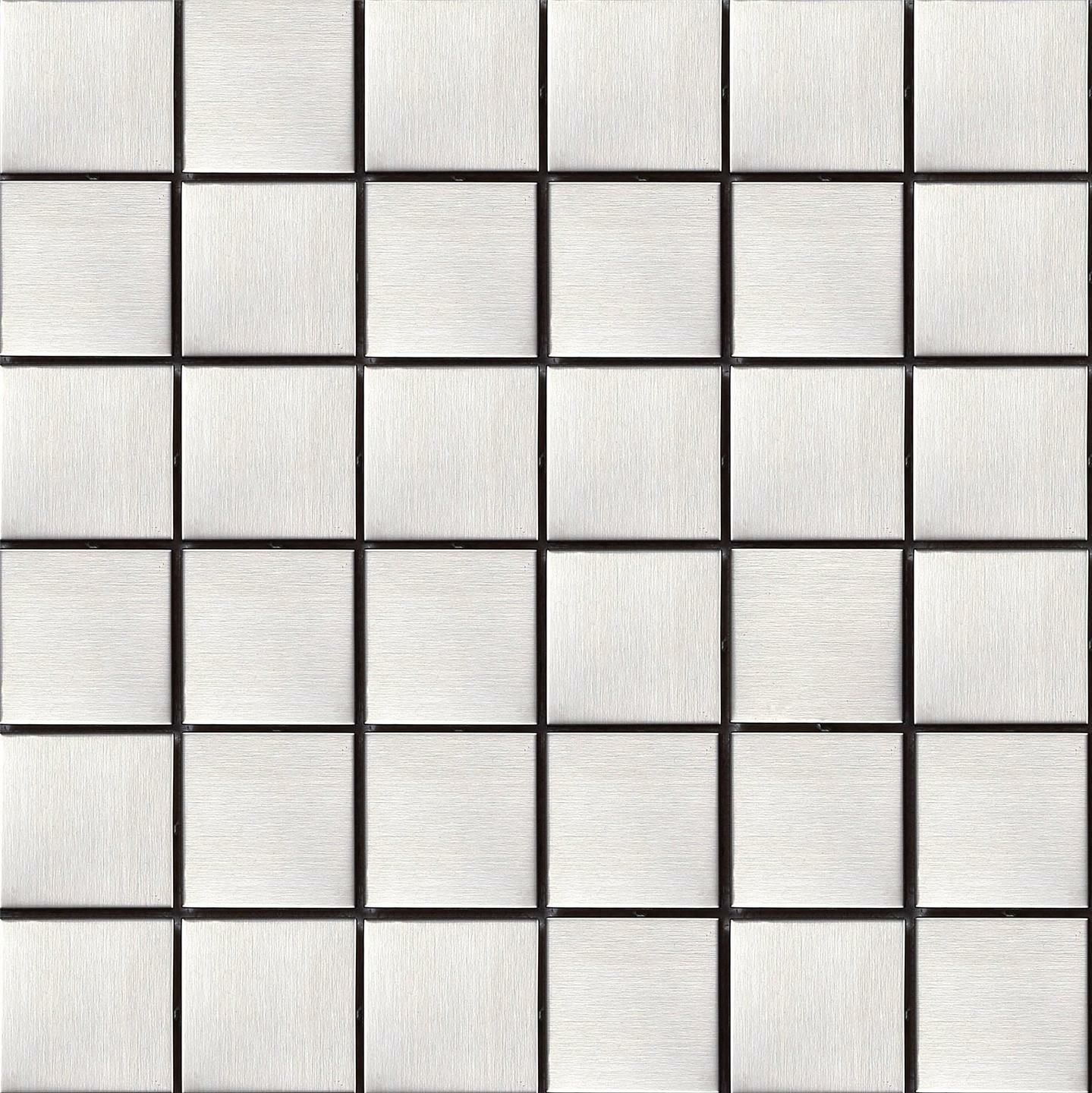 1 SQM Brushed Stainless Steel Metal Mosaic Tiles 300x300x8mm (MT0035)