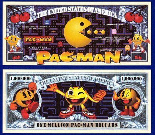 Collectible FAKE MONEY 1-PAC-MAN  Dollar Bill Video Game  Arcade  Novelty E