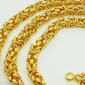 Deluxe 22K 23K 24K THAI BAHT GOLD GP NECKLACE 25 inch 65 Grams 6 mm