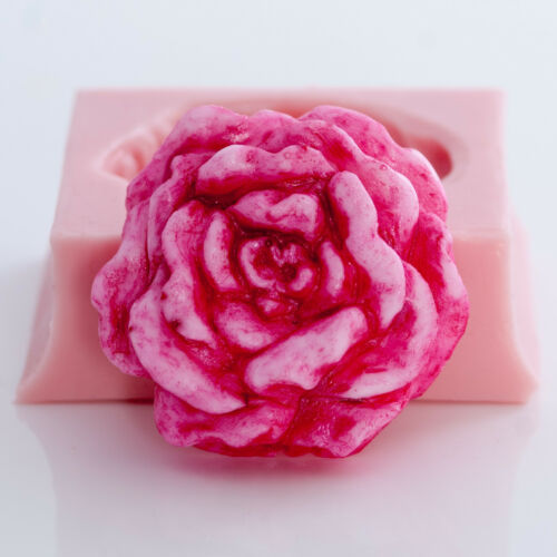 531 Cabbage Rose Soap Wax Mold Soap Mold Fexible easy to use mold