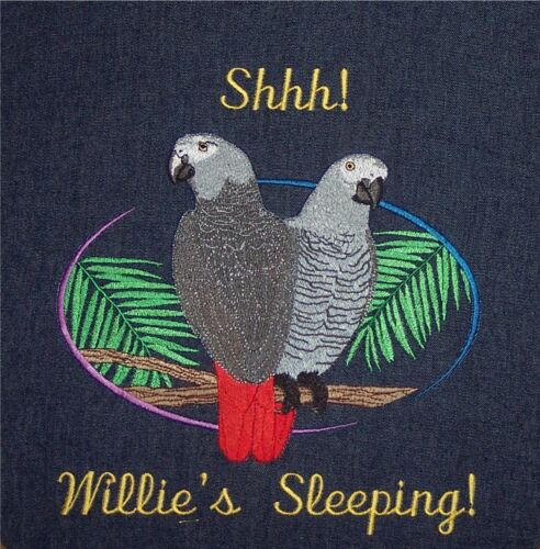 OVERSIZE Custom made Embroidered parrot bird cage cover African Gray