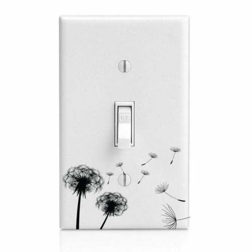 Outlet Dandelion Home Decor Knob Make a wish Light Switch Cover Night Light