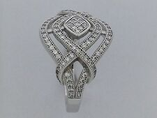 CZ Stones Cluster Ring 925 Sterling Silver Retail Value $165