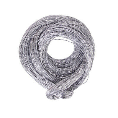 Multifunctional Silver String Metallic Jewellery Cord Card Braid 100 Yards