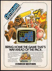 AMIDAR-Original-1982-print-AD-game-promo-Parker-Brothers-Konami-Atari-2600