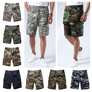 Mens-Army-Military-Combat-BDU-Shorts-Hunt-Camp-Fishing-Casual-Camo-Cargo-Shorts