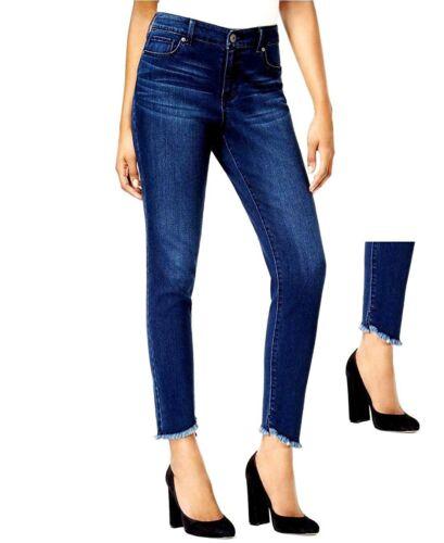 SO Womens Juniors Basic Blue Skinny HI-LO HEM Jeans Distressed Denim Jean Pants