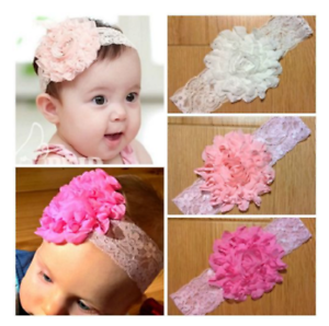 baby hair headbands accessories elastic girl removable antique rose bow clip