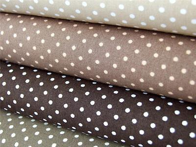 PALE BLUE 7mm SPOTS SPOTTY 100/% pure cotton FABRIC craft dress making bunting