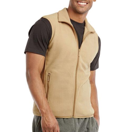 Mens Soft Polar Fleece Sleeveless Vest Jacket Warm Winter Coat Full Zipper ZipUp