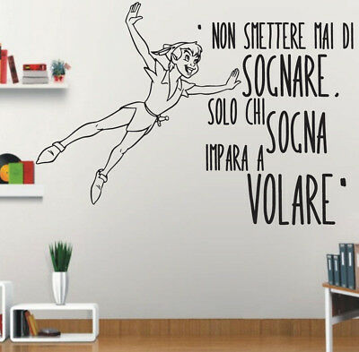 Adesivi Murali Peter Pan.Adesivi Murali Da Parete Peter Pan Murale Wall Sticker Art Frasi Citazioni Ebay