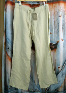Nwt-New-Tommy-Bahama-Womens-Leigh-Fit-Classic-Linen-Two-Palms-Pants-Sz-10